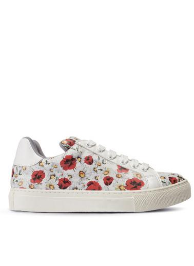 Deery Hakiki Deri Sneakers Beyaz